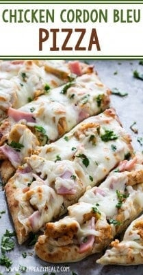 Chicken Cordon Bleu Pizza