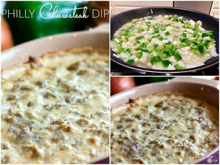 PHILLY CHEESESTEAK DIP -- is one of the best queso dips! It's an ...