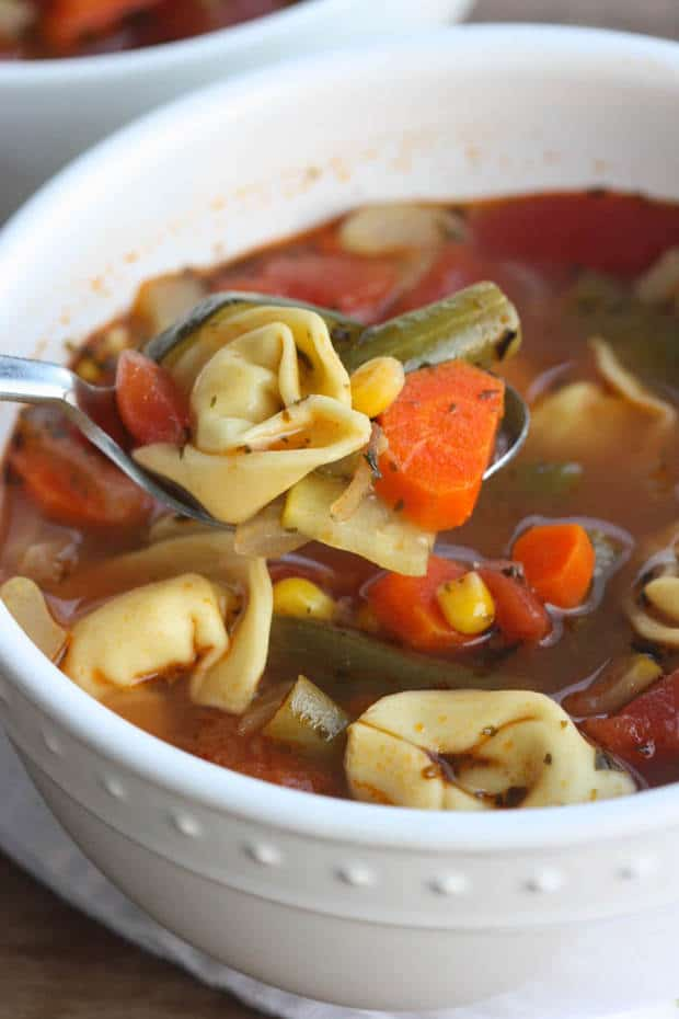 Vegetable Tortellini Soup from Tastes Better from Scratch