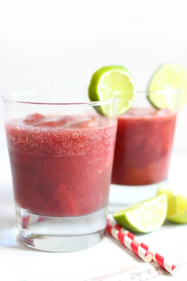 DARK CHERRY LIME SLUSH -- This delicious drink is tart from the lime ...
