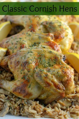 CLASSIC CORNISH HENS -- is an easy recipe that is perfect if you need to make a special dinner for someone that's easy and delicious! | Featured on www.thebestblogrecipes.com