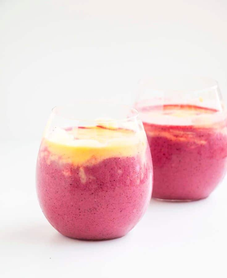 Mango Berry Smoothie -- The perfect health kick that tastes absolutely delicious and is packed with vitamin C, antioxidants and is incredibly quick and easy to make.