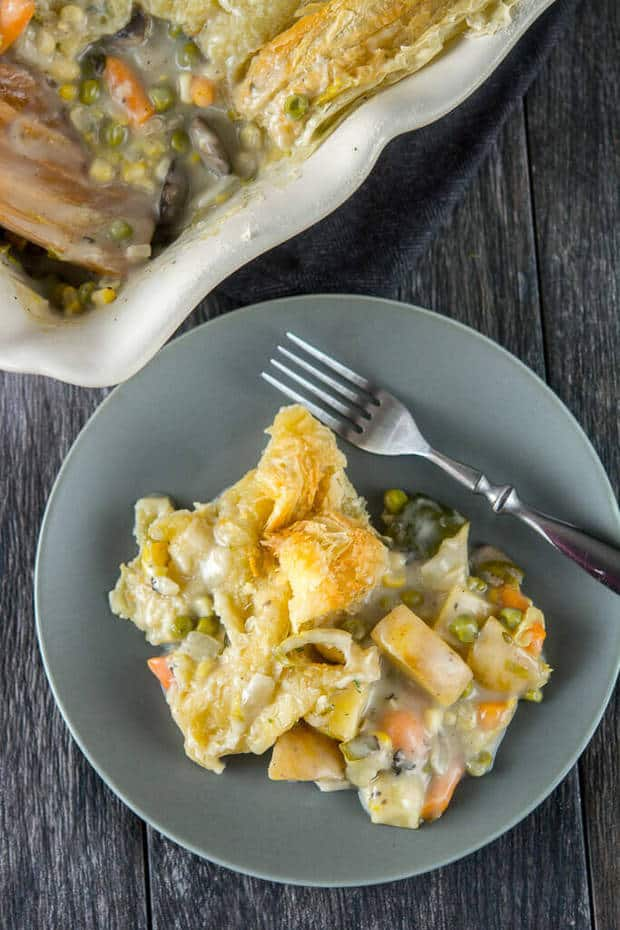 SLOW COOKER VEGGIE POT PIE | Featured on www.thebestblogrecipes.com