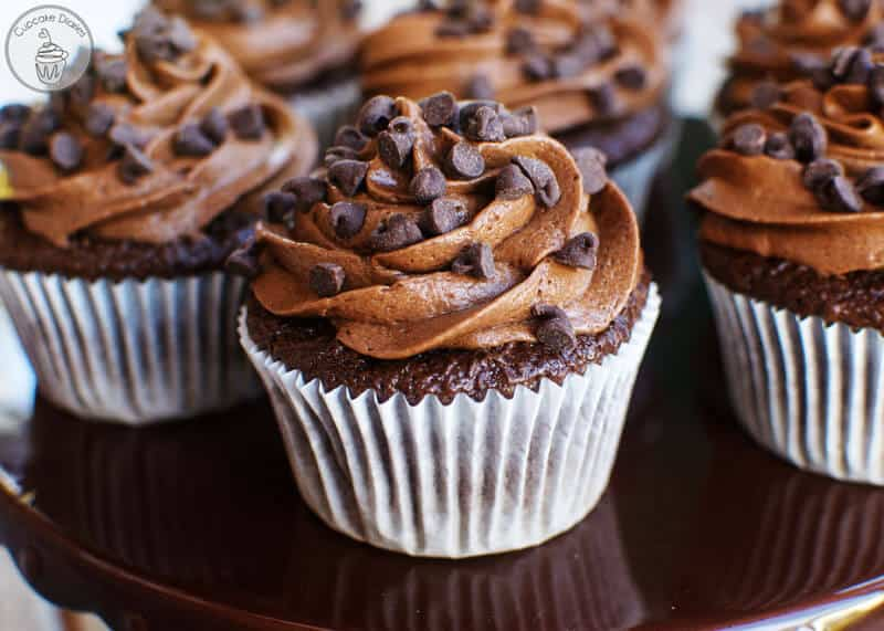 Triple Chocolate Cupcakes | Featured on www.thebestblogrecipes.com