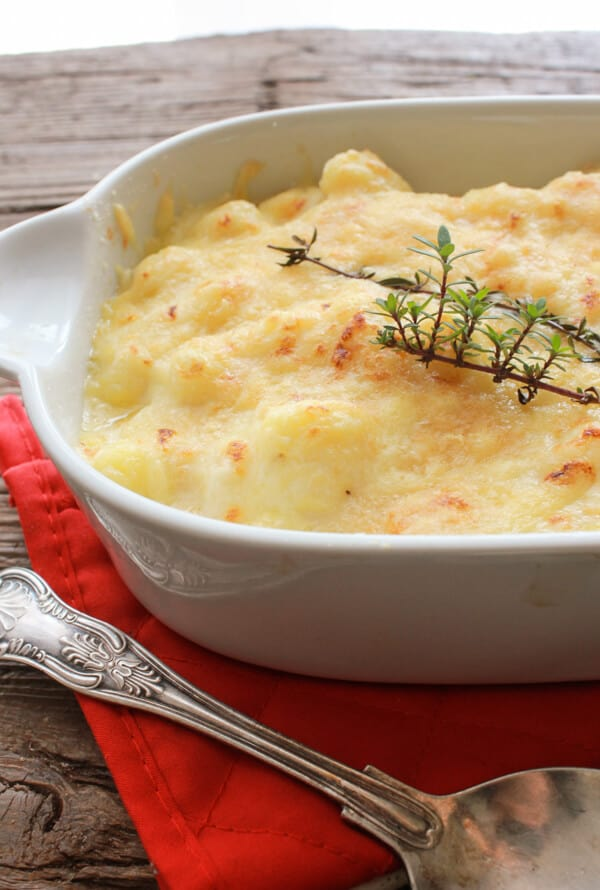 Baked Creamy Cheesy White Sauce Gnocchi - The Best Blog Recipes