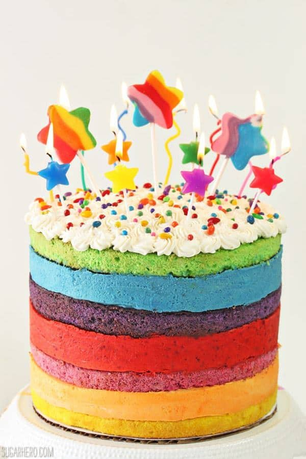 This Rainbow Mousse Cake is a labor of love, but for a special occasion, it is so worth it!