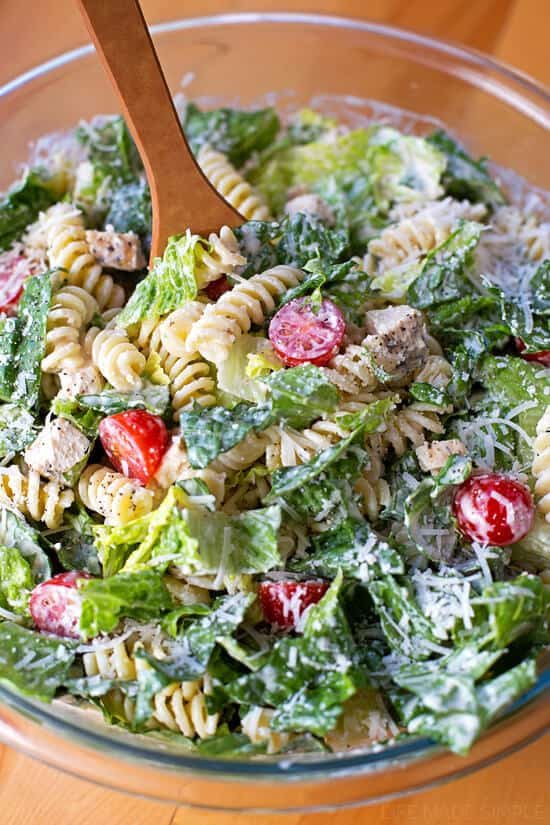 This Chicken Caesar Pasta Salad is a great meal or side dish. It's ...