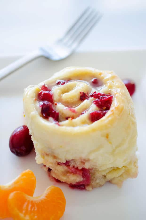 Cranberry Orange Sweet Rolls from Live Eat Learn