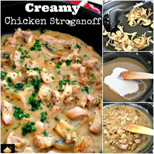 Creamy Chicken Stroganoff