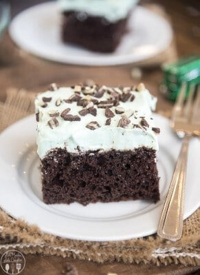 Mint Chocolate Poke Cake