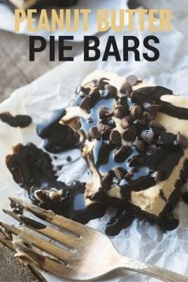 No-Bake Peanut Butter Pie Bars