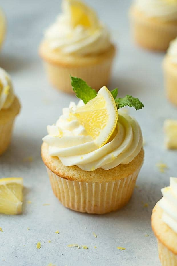 Light and fluffy lemon cupcakes with lemon cream cheese frosting. These classic cupcakes are perfect for spring and summer!