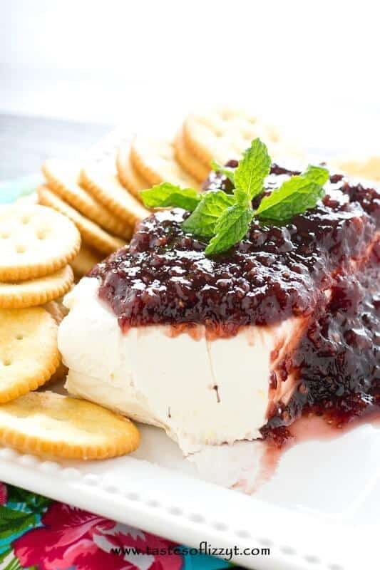 Raspberry Cream Cheese Dip -- Part of The Best Cream Cheese Dip Recipes