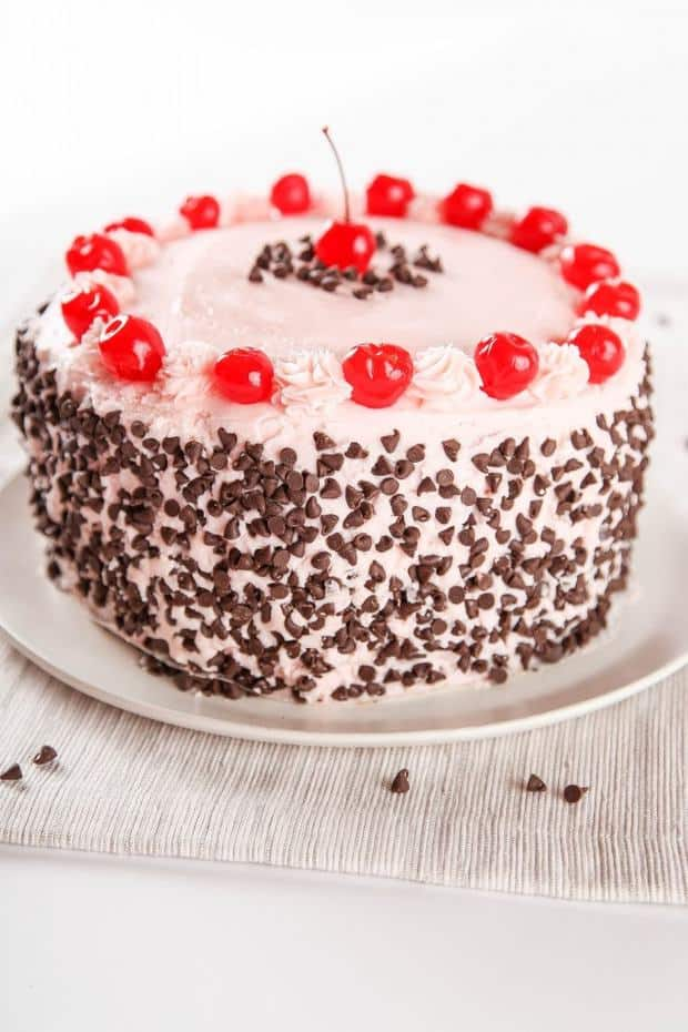 Cherry Chocolate Chip Cake -- Part of the Valentines Day Dessert