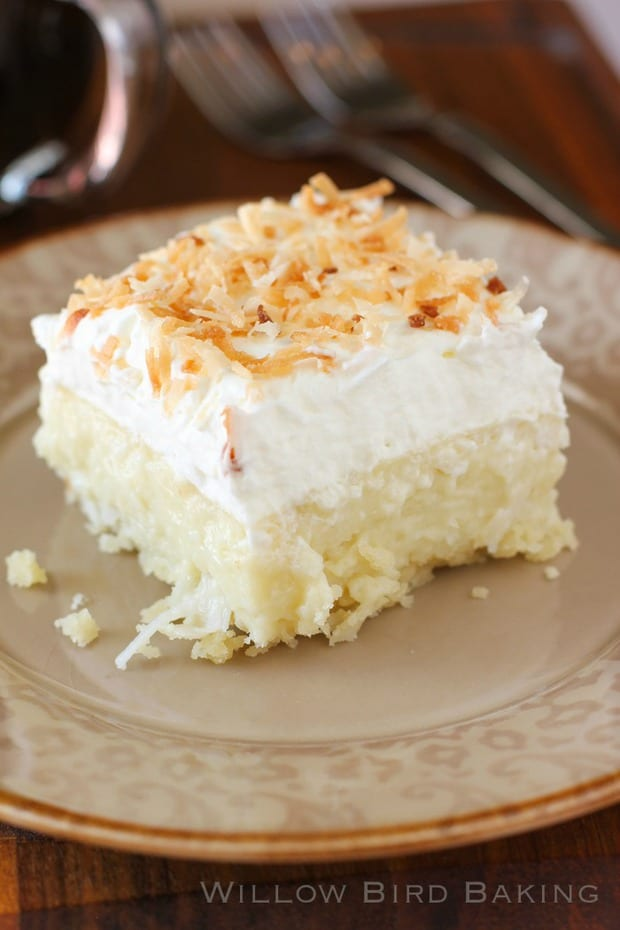 These Coconut Cream Pie Bars from Willow Bird Baking look so tasty! They're a heavenly mix of creamy coconut, a cloud of whipped cream atop a buttery shortbread crust. It doesn't get any better than this for a coconut fan!