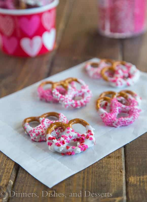 Chocolate Covered Pretzels -- Part of the Valentines Day Dessert