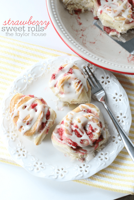 Strawberry Sweet Rolls -- Part of The Best Breakfast Sweet Rolls Recipes