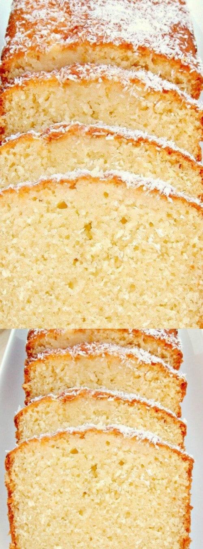 Moist Coconut Load Pound Cake