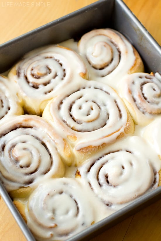 There's nothing better than a warm, gooey cinnamon roll covered in a sweet layer of vanilla icing… especially when they require only 60 minutes to make! These 1 hour cinnamon rolls are not only quick and easy, but they taste just as amazing, if not better, than any other cinnamon roll!