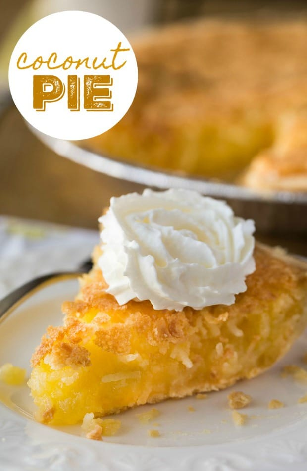 COCONUT PIE--31+ COCONUT DESSERTS THAT WILL SATISFY YOUR SWEET TOOTH!