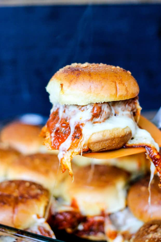 Italian Meatball Sliders are the perfect weeknight dinner. Quick, easy, and majorly delicious, this is a recipe your whole family will devour!