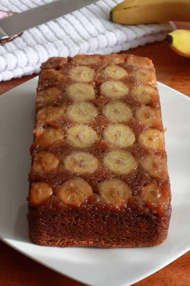 Caramel Banana Upside Down Bread -- Part of our 18 Recipes that prove that CARAMEL and BANANAS were meant to go together!