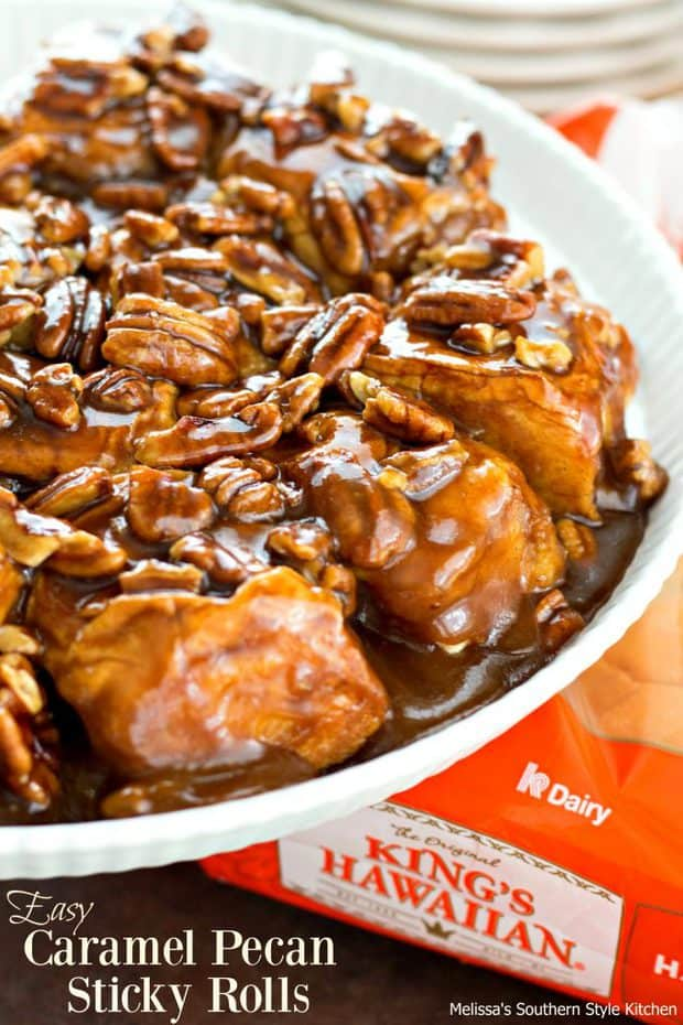 Easy Caramel Pecan Sticky Rolls -- Part of The Best Breakfast Sweet Rolls Recipes