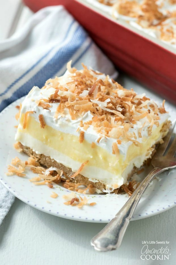 COCONUT CREAM LUSH--31+ COCONUT DESSERTS THAT WILL SATISFY YOUR SWEET TOOTH!