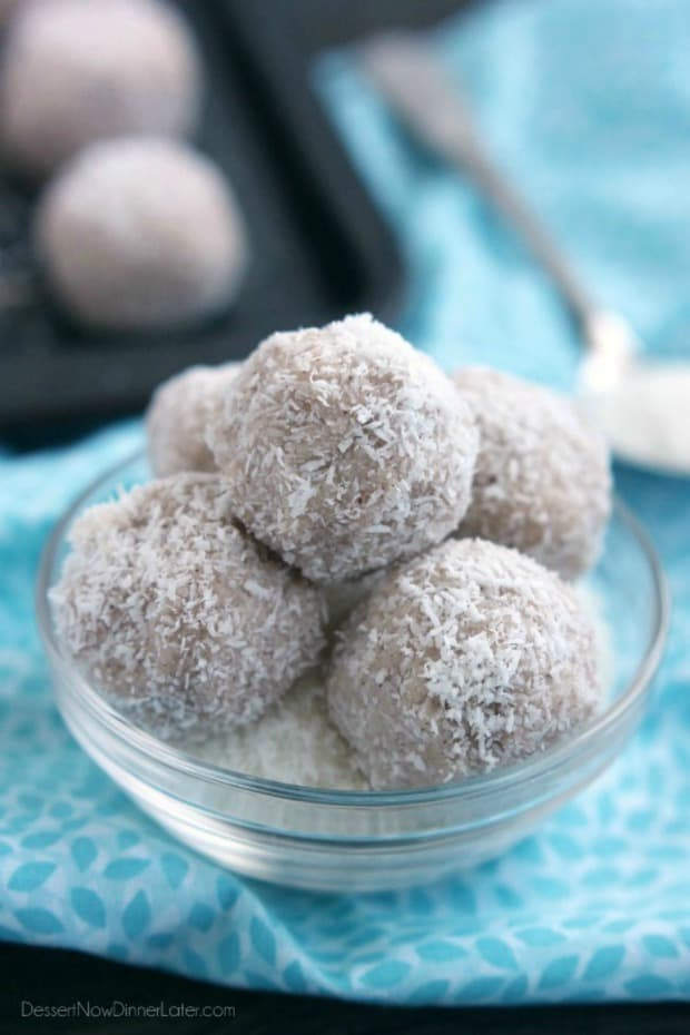 COCONUT SNOWBALLS--31+ COCONUT DESSERTS THAT WILL SATISFY YOUR SWEET TOOTH!