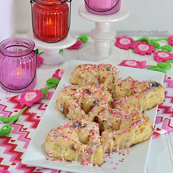Sweetheart Cinnamon Rolls-- Part of The Best Breakfast Sweet Rolls Recipes