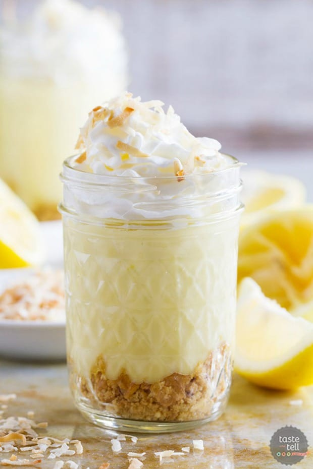 COCONUT LEMON PUDDING PARFAITS--31+ COCONUT DESSERTS THAT WILL SATISFY YOUR SWEET TOOTH!