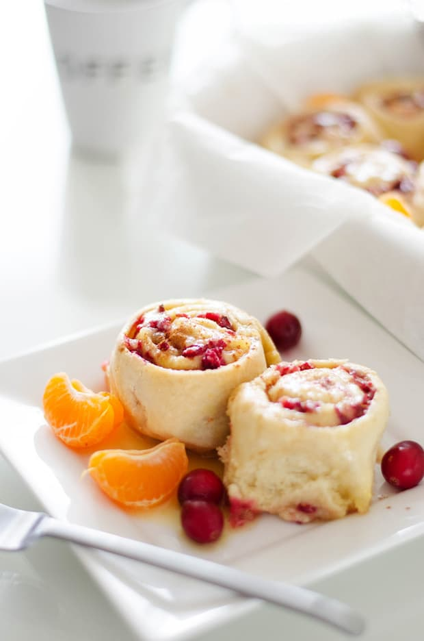 Cranberry Orange Sweet Rolls -- Part of The Best Breakfast Sweet Rolls Recipes