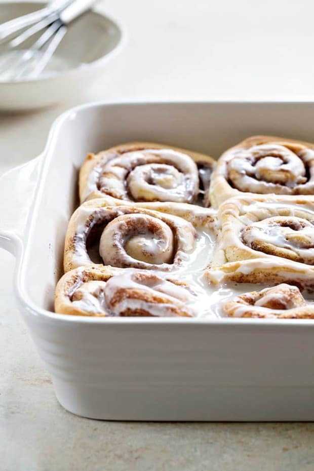 Overnight Chai Spice Sweet Rolls are the perfect breakfast for Christmas morning. Make them the night before and let them rise while you're opening gifts. Simple and delicious!