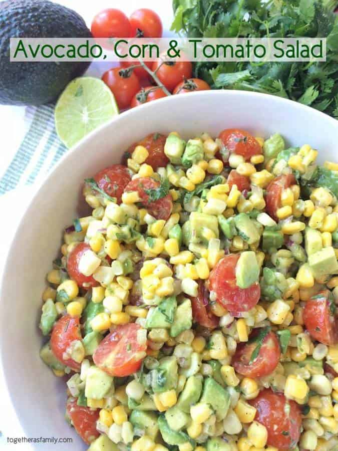 and tomato tomato tomatillo and corn salad with avocado dressing ...