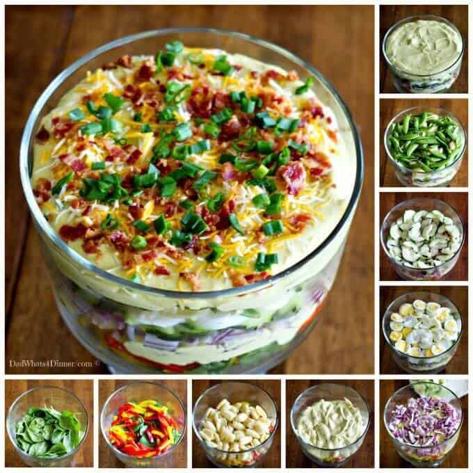Creamy Deviled Egg Layered Pasta Salad - The Best Blog Recipes