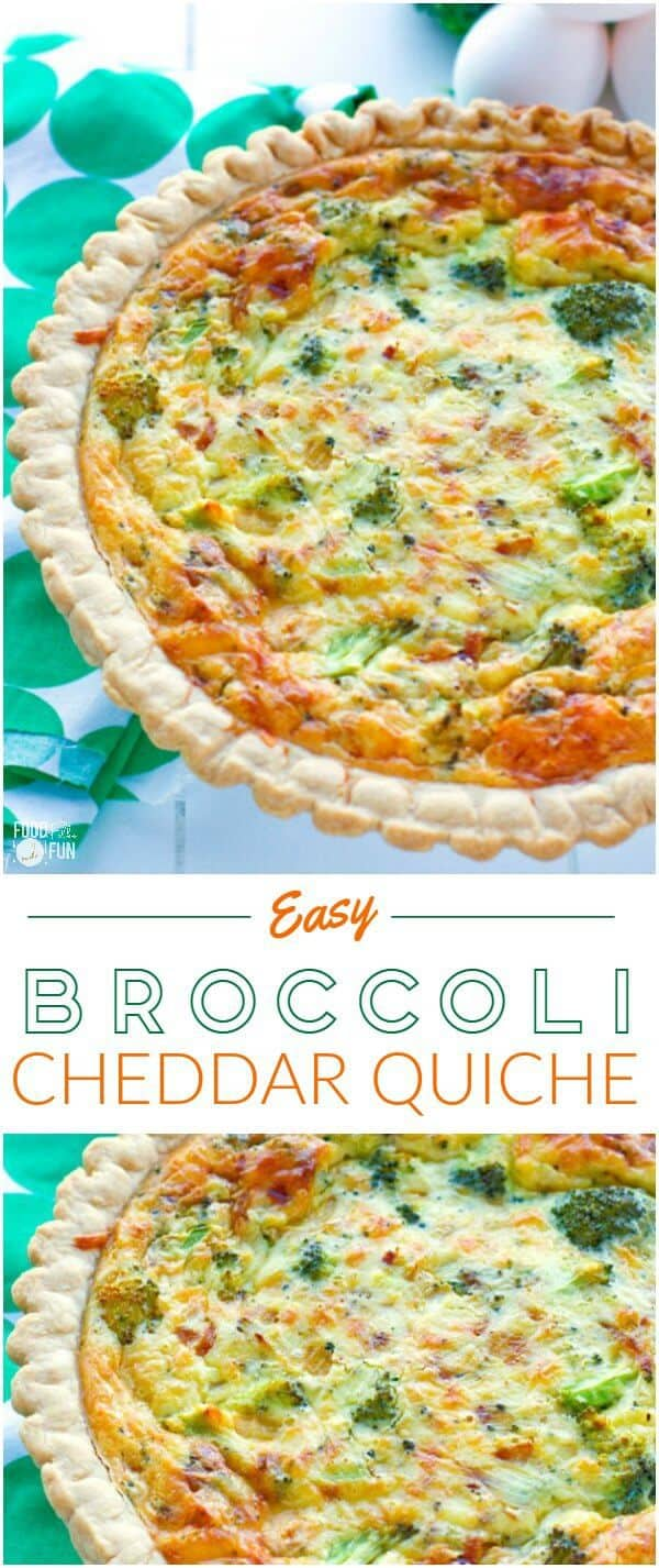 Easy Broccoli Cheddar Quiche