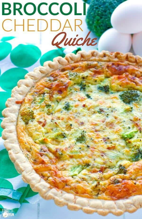 Easy Broccoli Cheddar Quiche