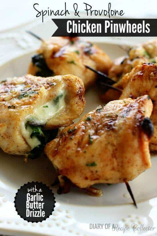 Spinach and Provolone Chicken Pinwheels - The Best Blog Recipes