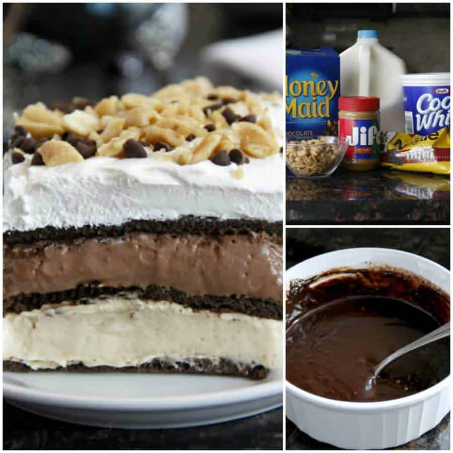 No-Bake Peanut Butter Chocolate Lasagna