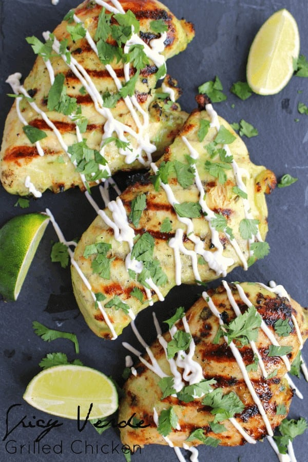 Spicy Verde Grilled Chicken