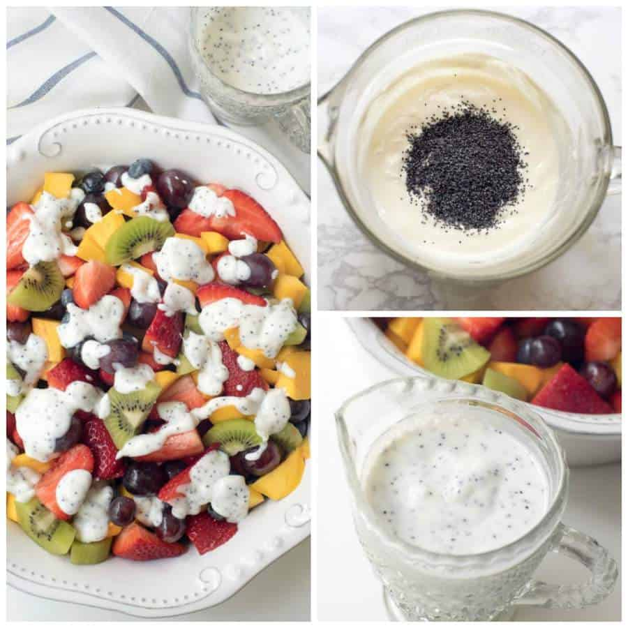 Fruit Salad with creamy poppy seed