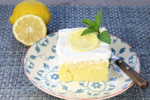 Lemon Pineapple Poke Cake-- Part of 30 Pineapple Recipes for your Sweet Summertime Cravings