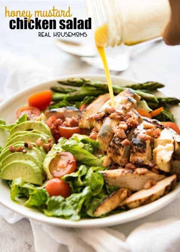 This Honey Mustard Chicken Salad is not just another salad. My secret tip for this recipe is that the gorgeous honey mustard dressing does double duty as both a slather for the chickenandthe dressing for the salad!