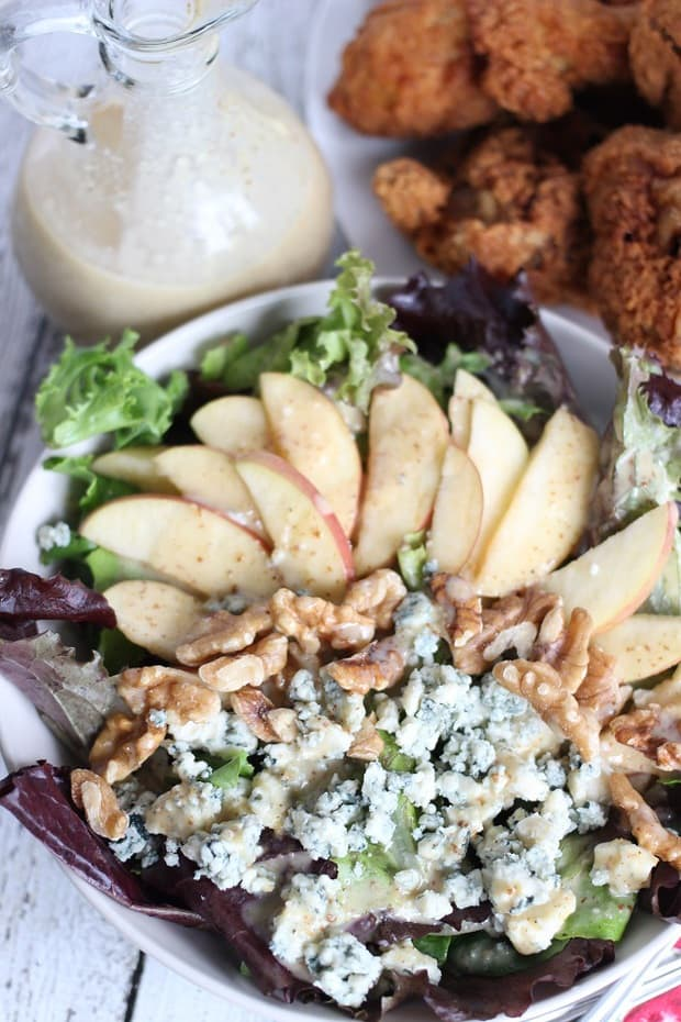 This Apple Walnut and Blue Cheese Salad Recipe is easy, delicious, and will make you wish it was summer all year long!