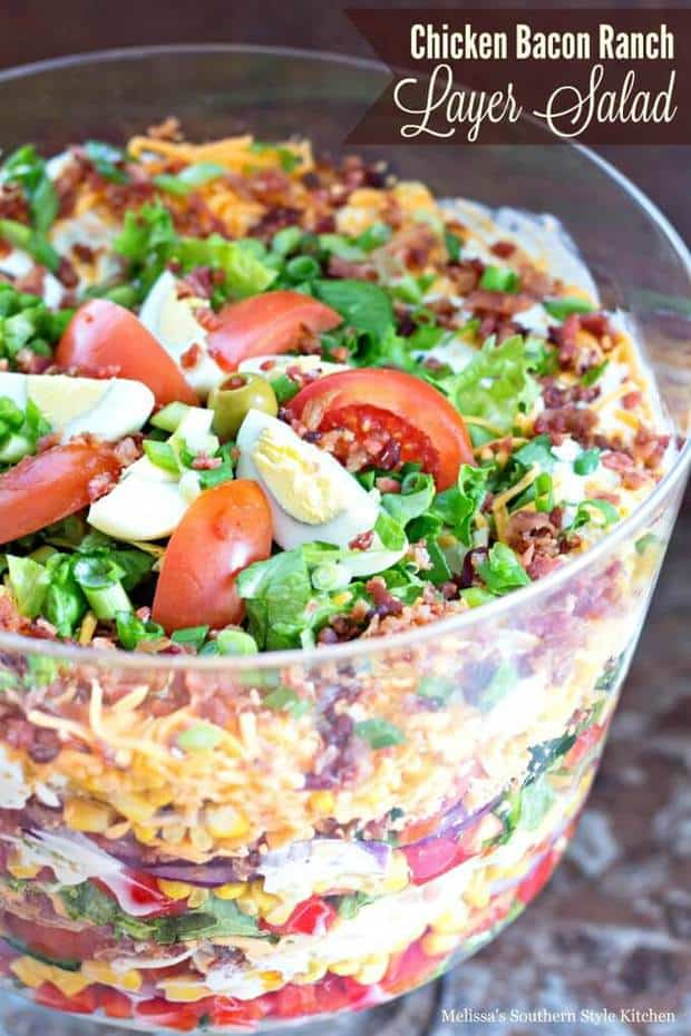 Chicken Bacon Ranch Layer Salad The Best Blog Recipes