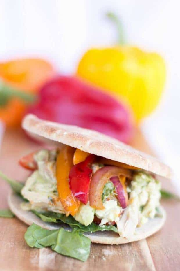 Healthy Fajita Chicken Sandwiches