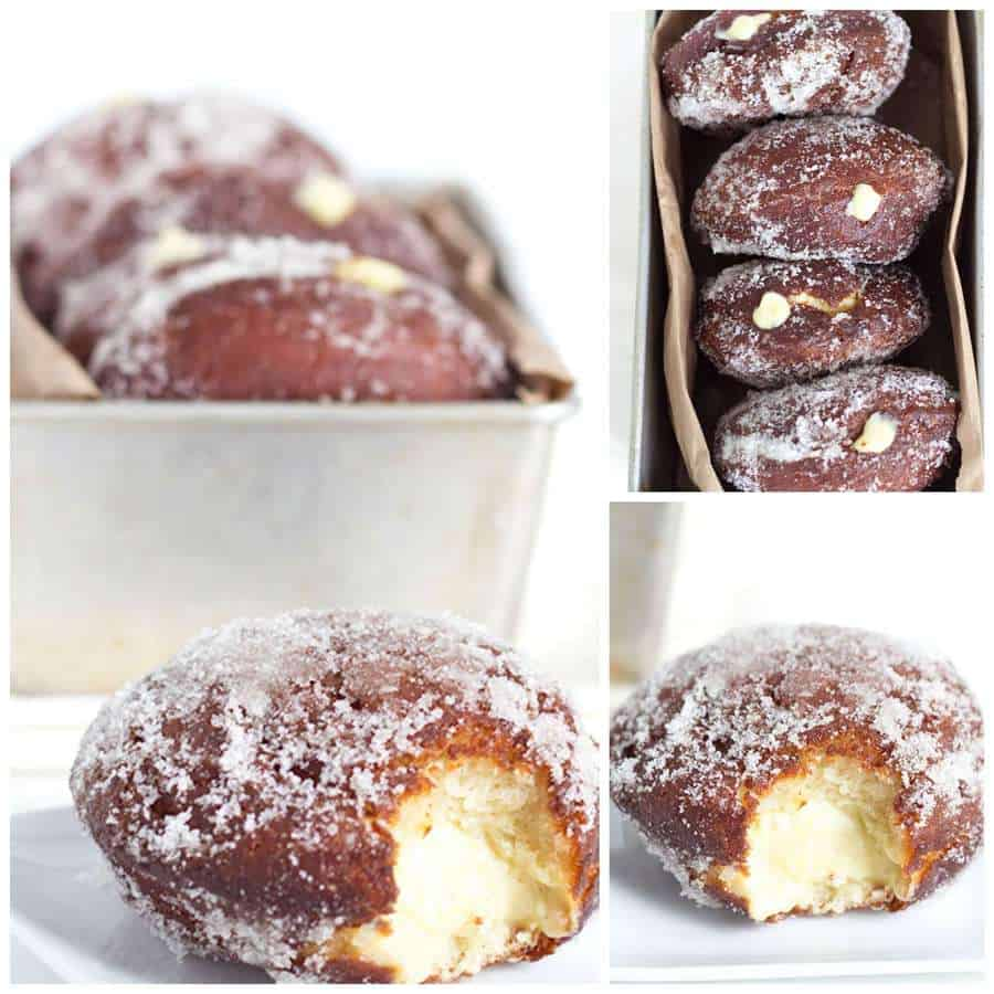 Vanilla Cream Filled Doughnuts