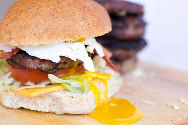 Bacon Egg Cheddar Burger
