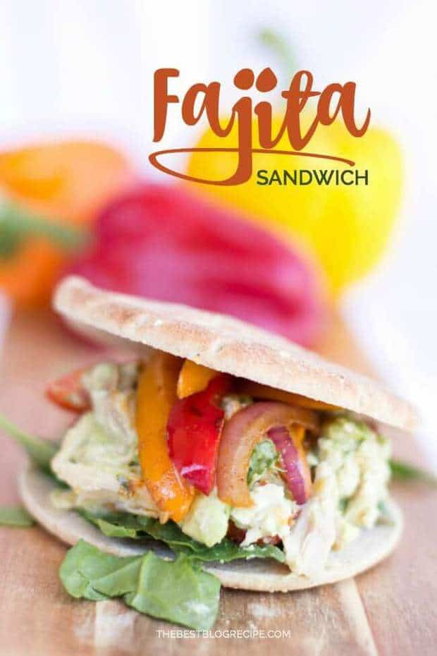 Easy & Healthy Chicken Fajita Sandwiches