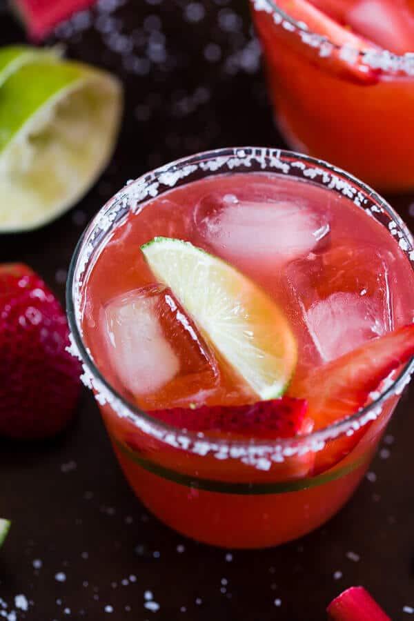 Strawberry Rhubarb Margarita - The Best Blog Recipes